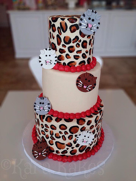 Leopard & Cats Theme Cake