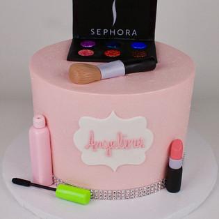 Makeup Theme Cake