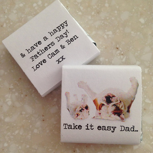 'Take It Easy Dad' mini chocolates
