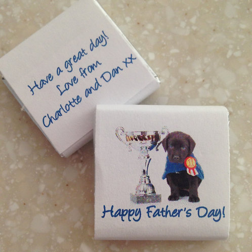 'Number One Dad' mini chocolates