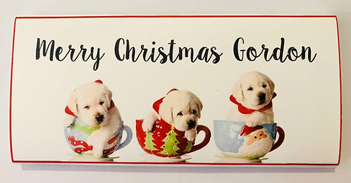 Pups In Cups place card chocolate