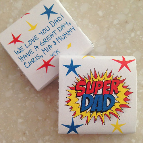 'Super Dad' mini chocolates