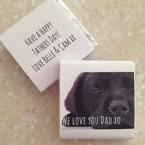 'Happy Dad' mini chocolates