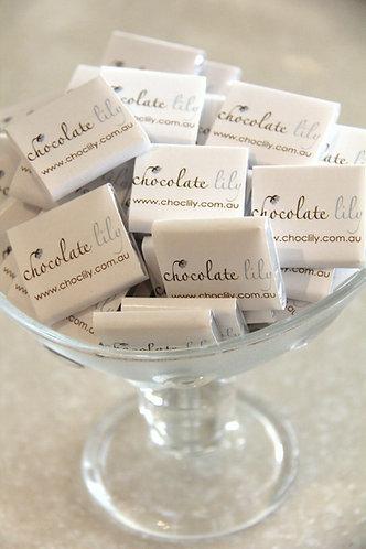 Custom printed business chocolates