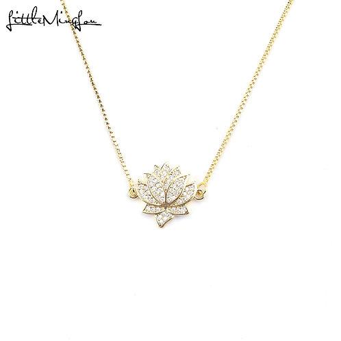Collar Zirconia Lotus Flower
