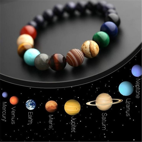 Pulsera Sistema Solar de Piedra Natural