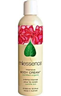Miessence Intensive Body Cream Sunshine Coast Noosa