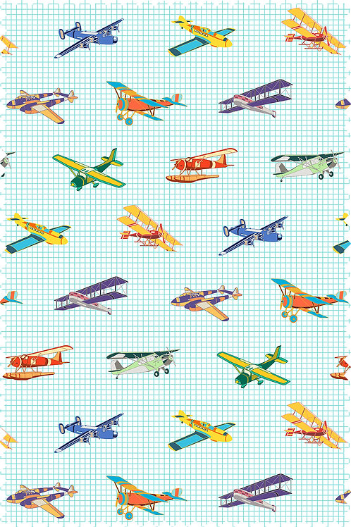 AIRPLANE COLOR FABRIC