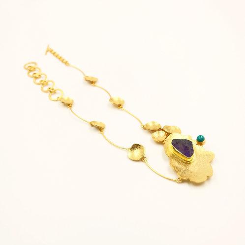 Golden Petals Neckpiece