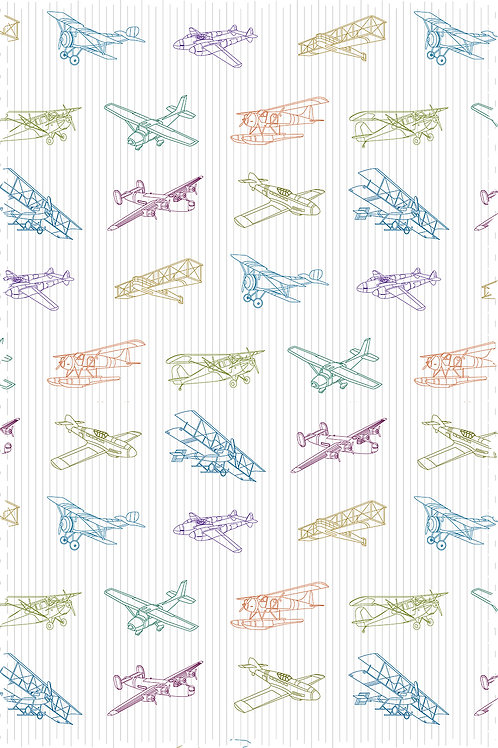 AIRPLANE OUTLINE FABRIC