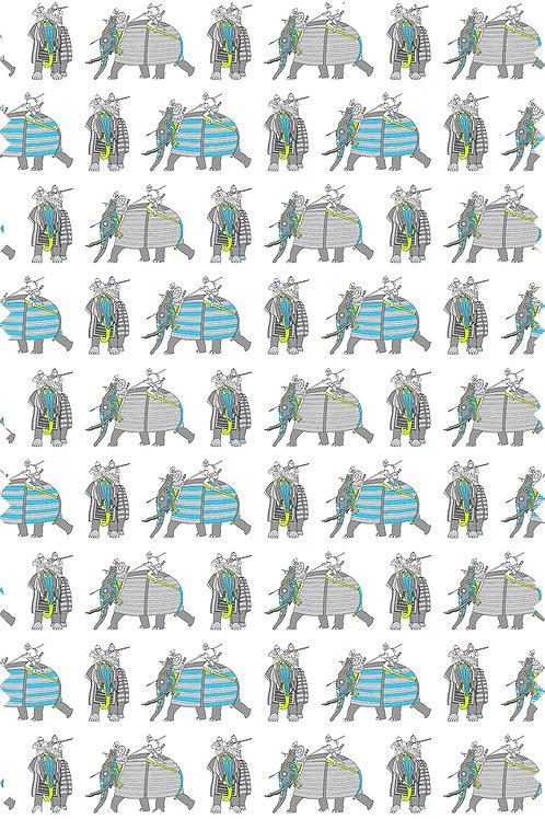 ELEPHANT WARRIOR FABRIC