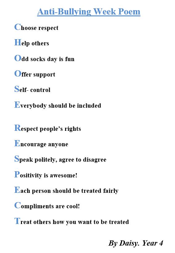 Anti- Bullying Week