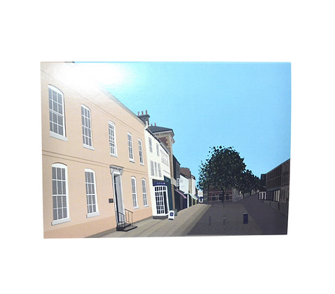 Illustrated greeting card - High Street, Market Harborough