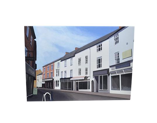 Illustrated greeting card - Church Street Market Harborough