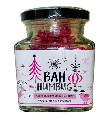 Raspberry and Prosecco Humbugs