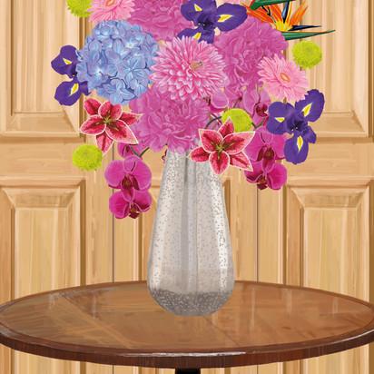 Flowers in vase in panelled room.jpg