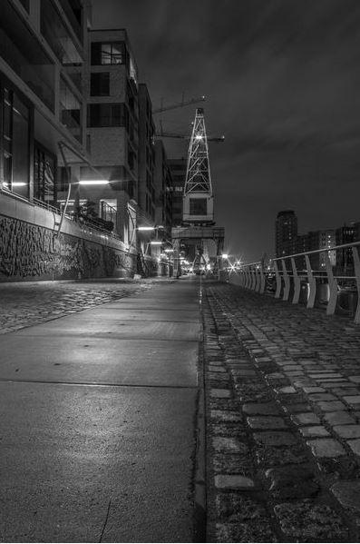 Kran in der Hamburger Hafen City