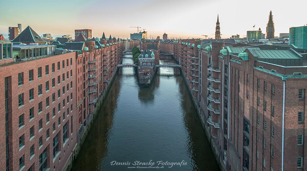 Speicherstadt Hamburg aus der Luft