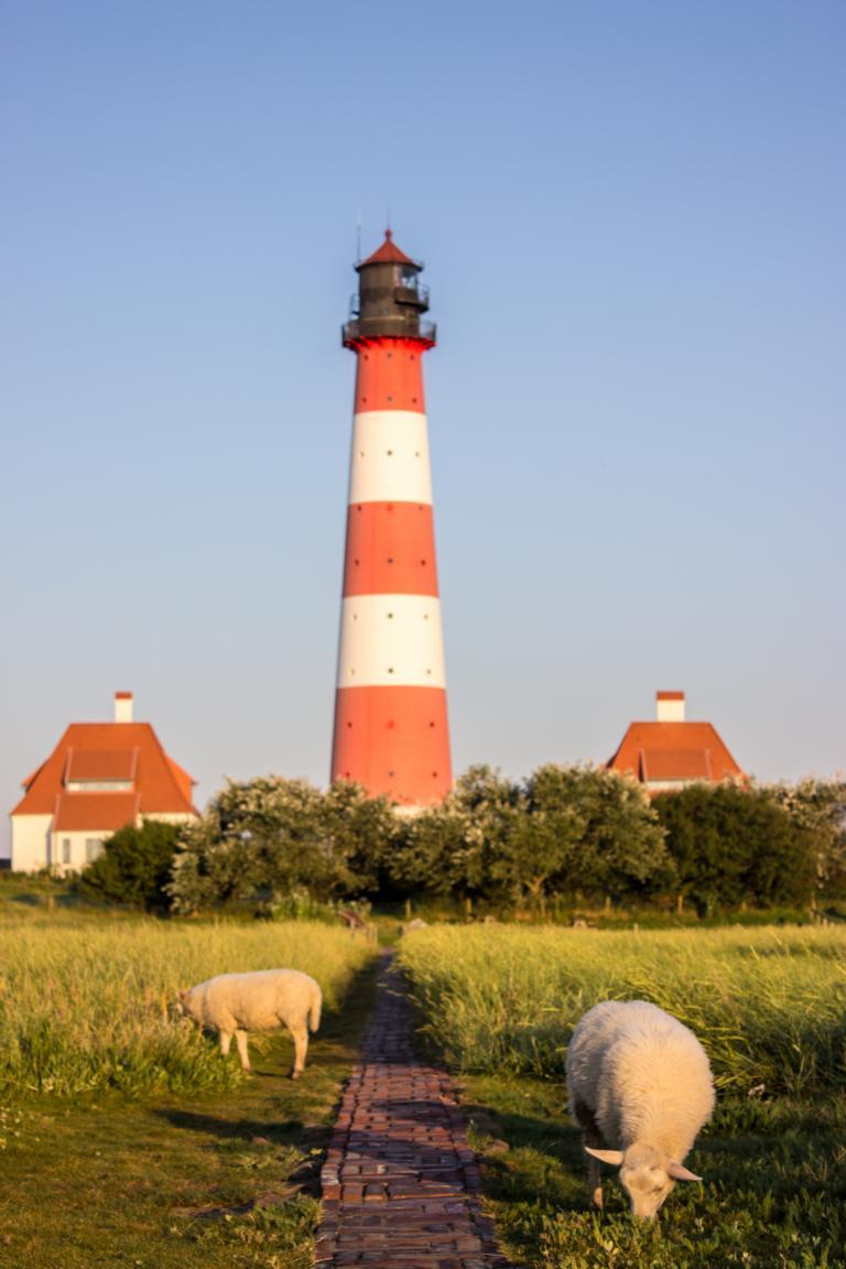 Westerhever Leuchtturm Nordsee