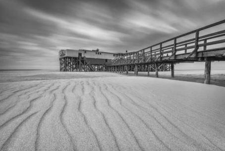 Am Strand von St Peter Ording Nordse