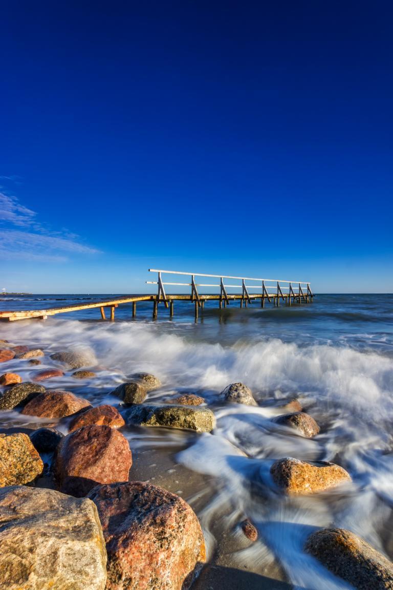 Steg ins Meer Graswarder Ostsee