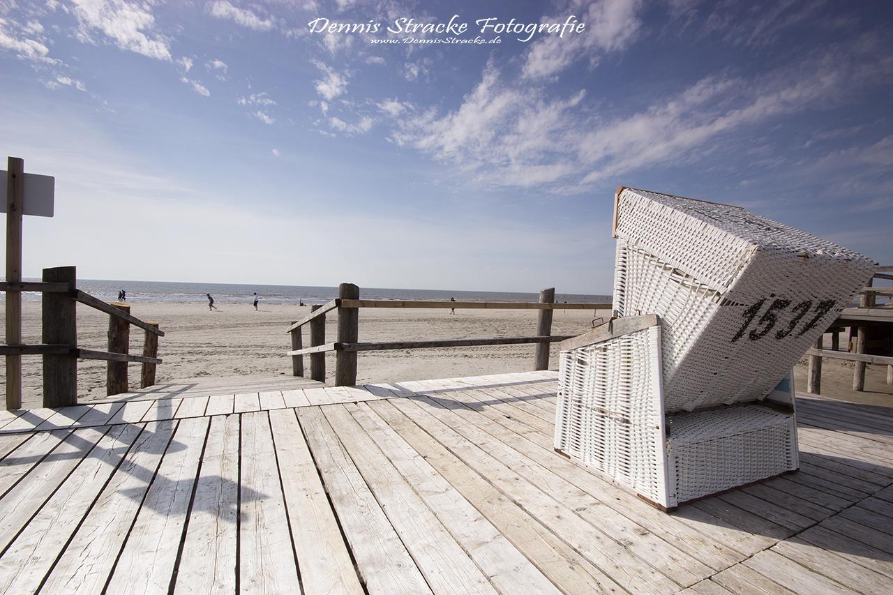 Strandkorb Urlaub an der Nordseeküst