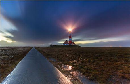 Leuchtturm Westerhever an der Nordse