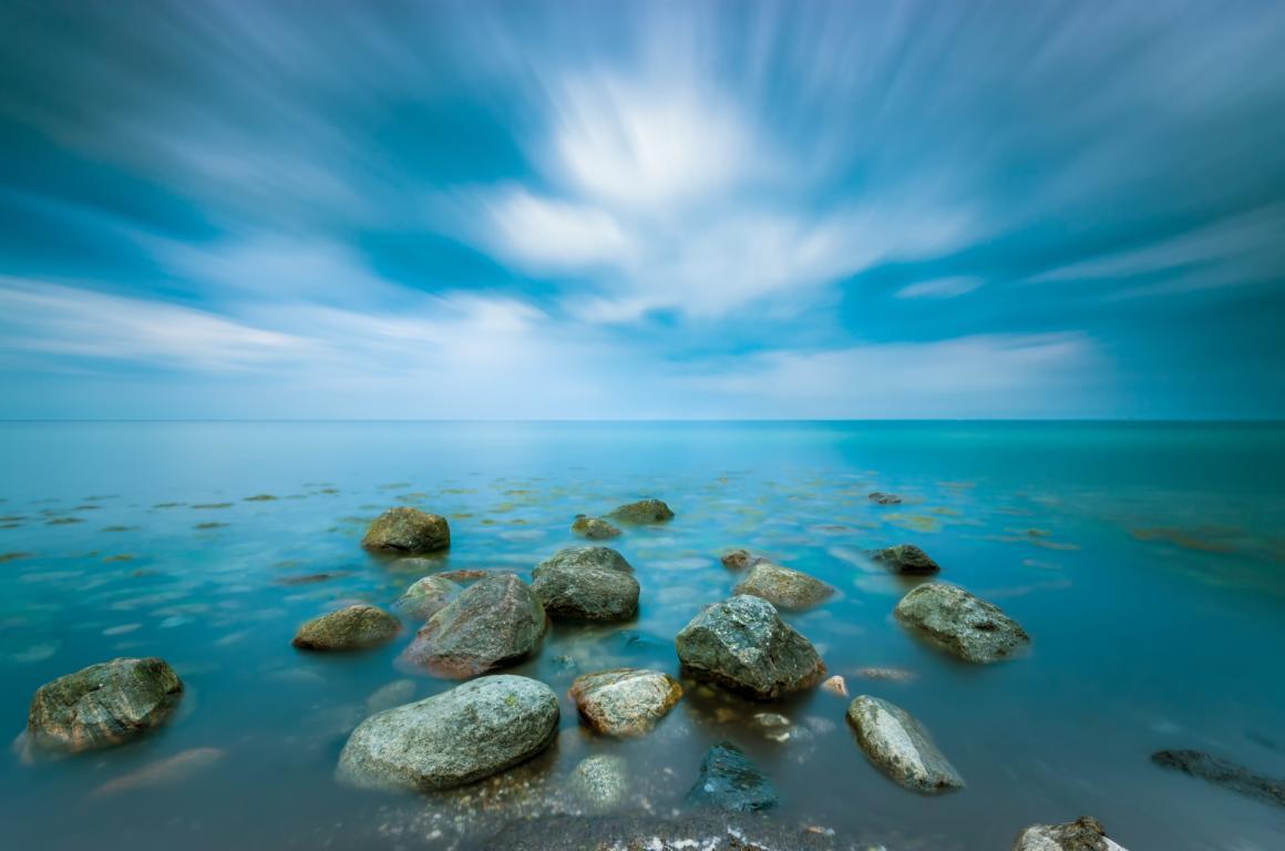 Steinhaufen an der Ostsee