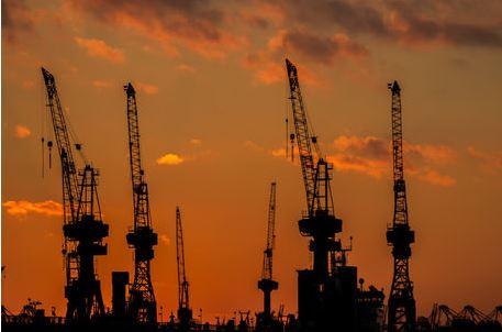 Hafen Silhouette Hafen Kräne