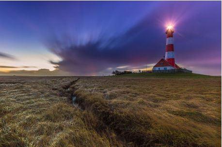 Leuchtturm Westerhever an der Nords
