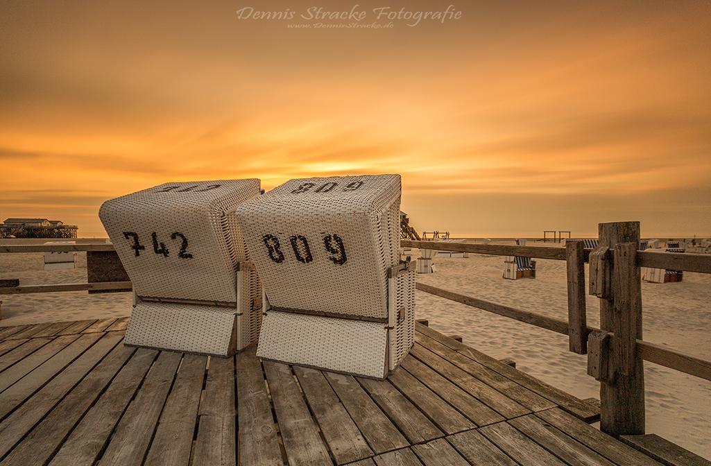 Strankorb Romantik an der Nordsee