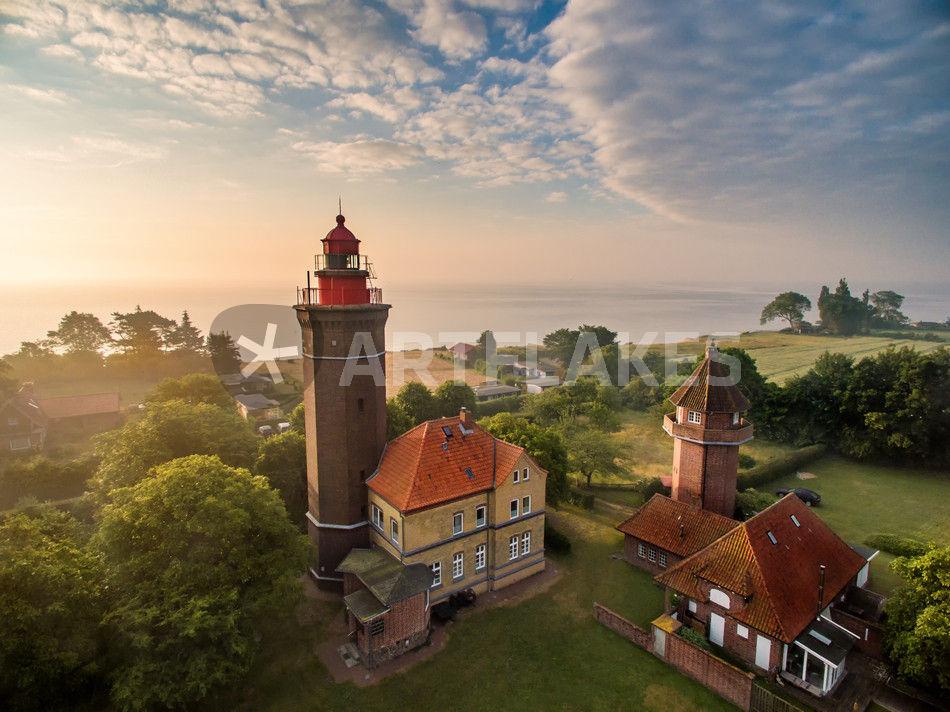 Dahme Leuchtturm Luftaufnahme Ostsee