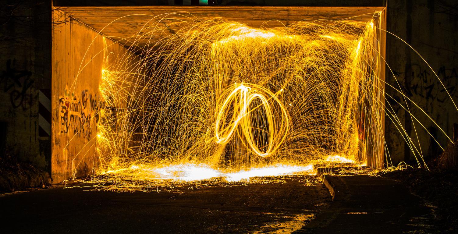 Stahlwolle Lightpainting die 8