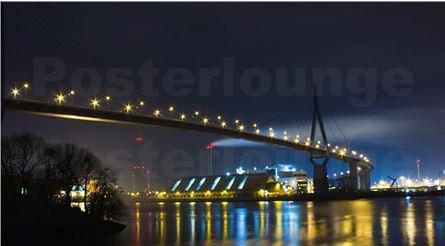 Köhlbrandbrücken Hamburg bei Nacht