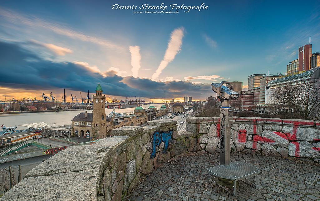 Blick vom Stintfang Hamburg Hafen La
