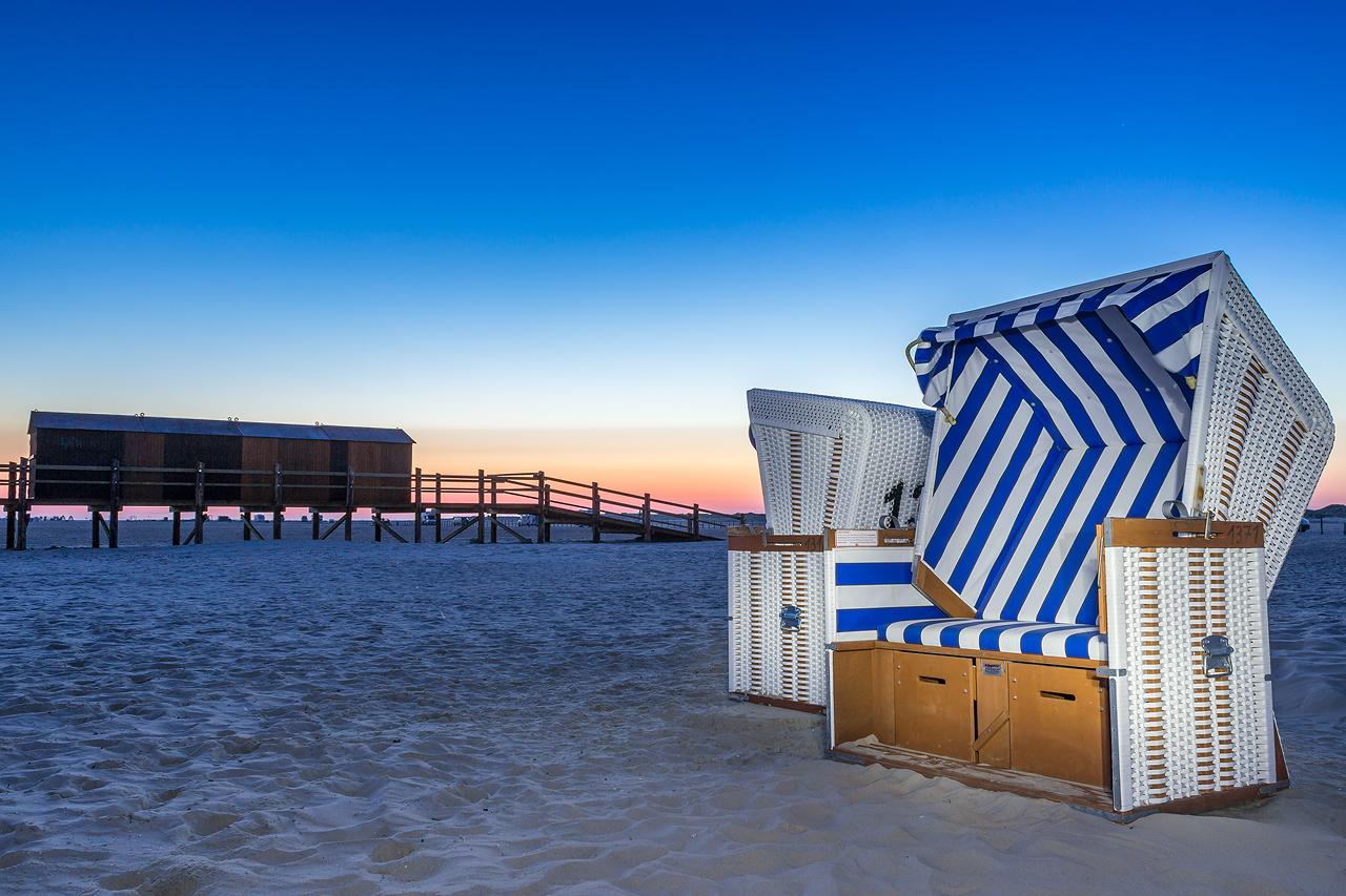 Am Strand von Sankt Peter Ording Str