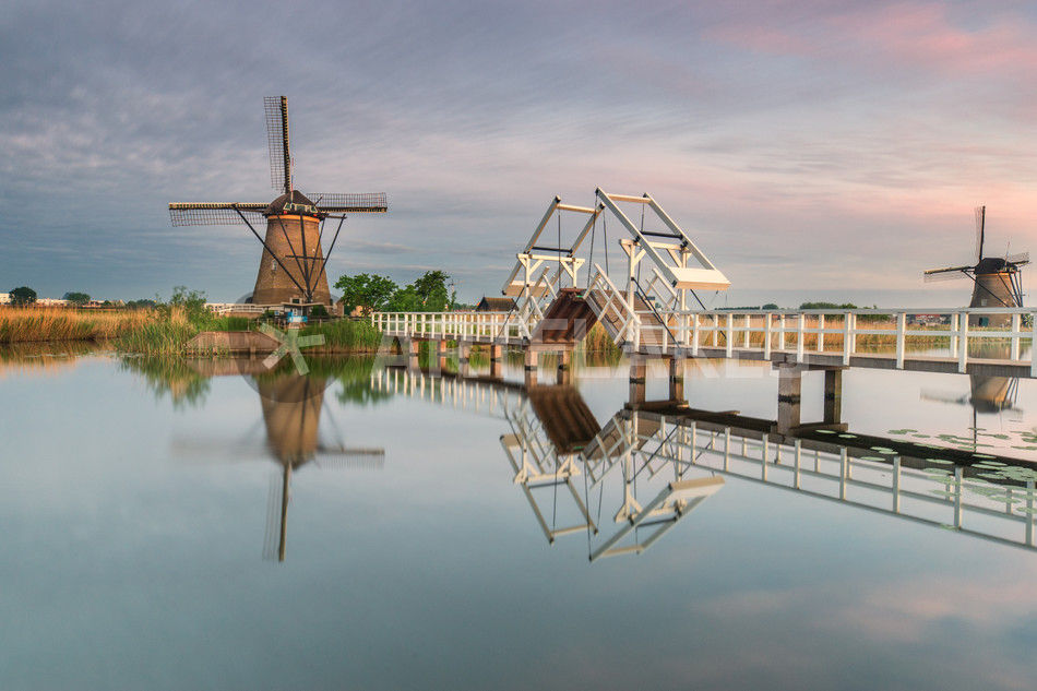 Windmühle Kinderdjik Holland