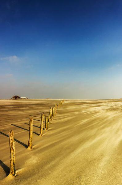 Sandsturm am Stand