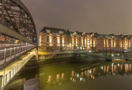 Blick in die Speicherstadt Hamburg