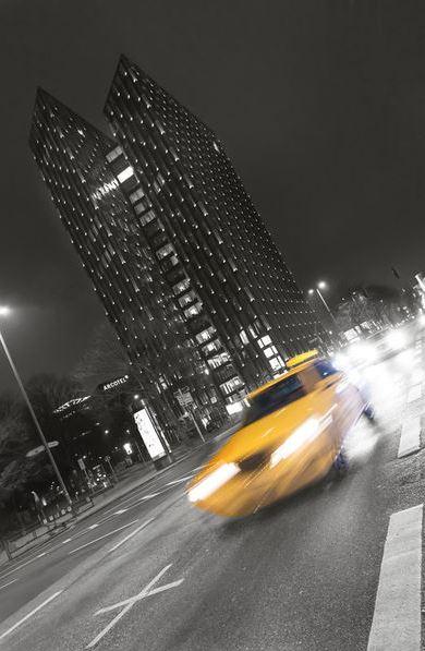 Mit dem Taxi über die Reeperbahn
