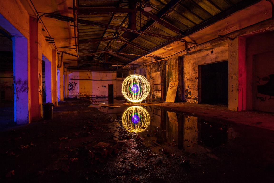 Geheimnissvolle Lichtkugel