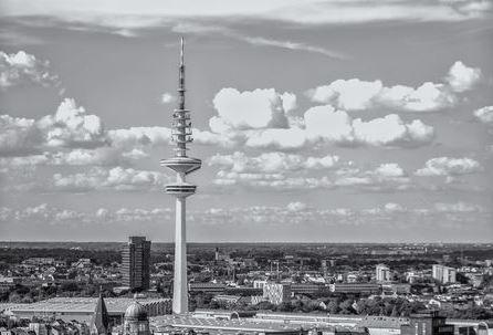 Hamburg Fernsehturm Wanddekoshop