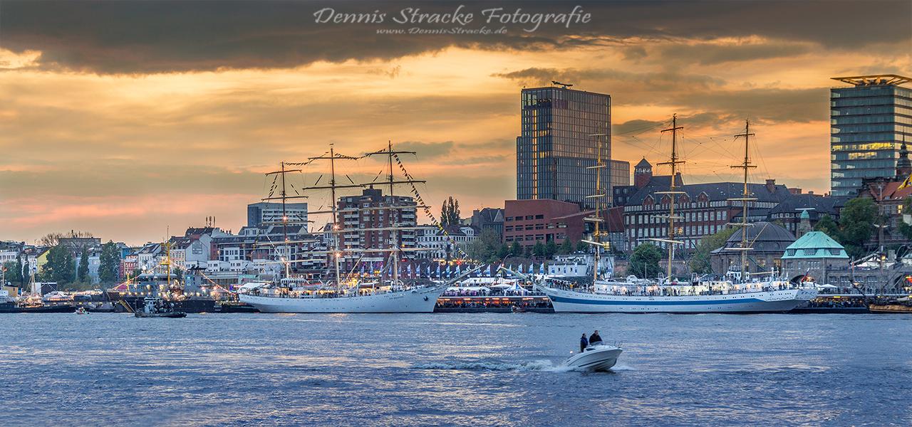 Hamburg Hafen Panorama Landungsbrück