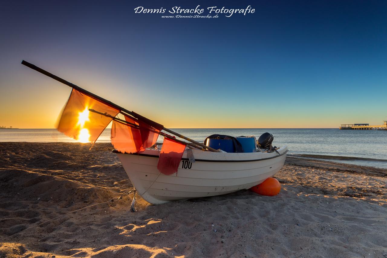 Fischerboot an der Ostsee