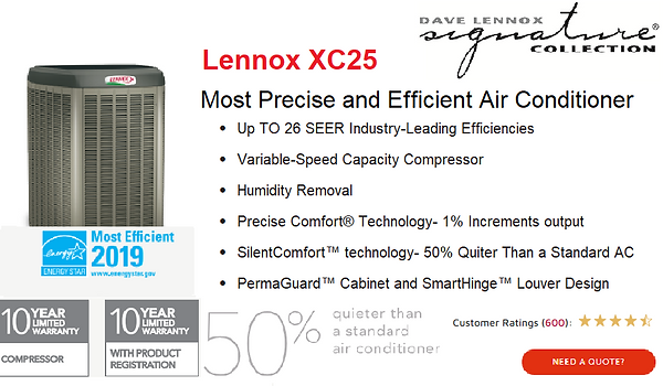 Lennox Air Conditioner XC25.png