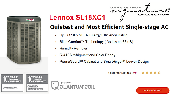Lennox Air Conditioner SL18XC1.png