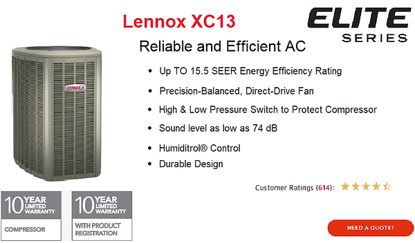 Lennox Air Conditioner XC13.png