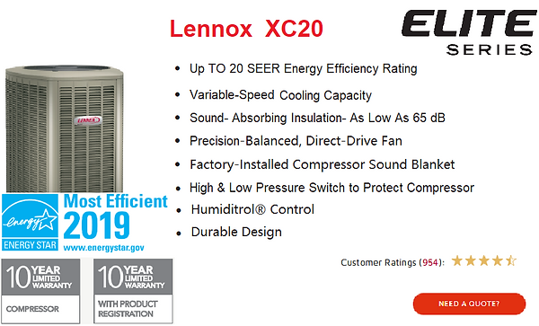Lennox Air Conditioner XC20.png