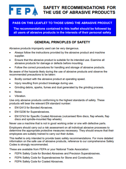 BAF / FEPA Safety Leaflet
