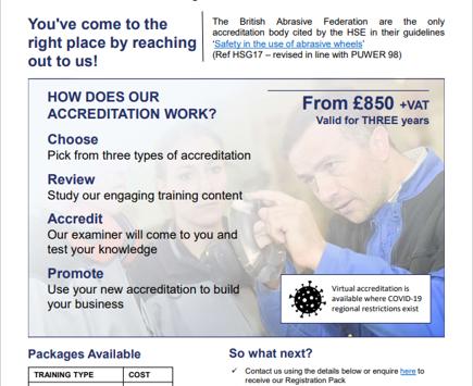 NEW Training Provider Information Leaflet